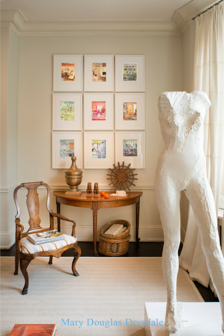 The studio of Washington DC based interior designer, Mary Douglas Drysdale.
