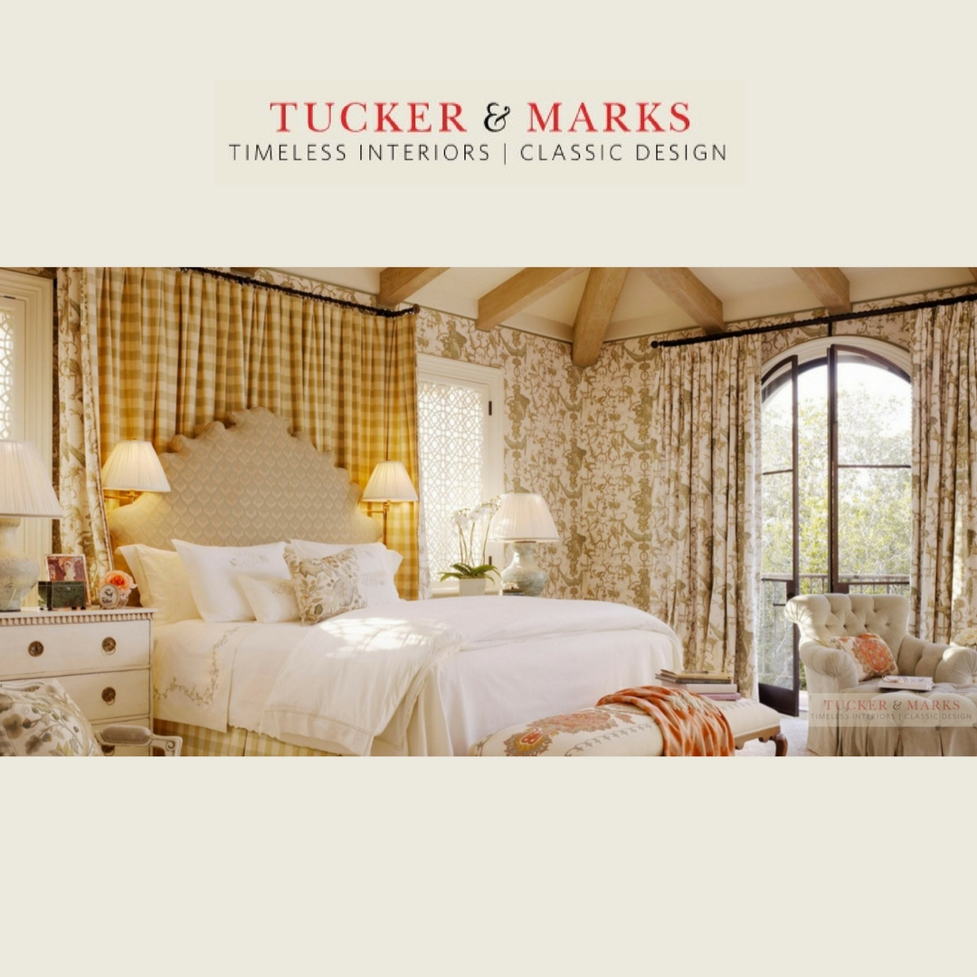 A dream master bedroom created for a very special home in Carmel, California by Suzanne Tucker of Tucker and Marks.