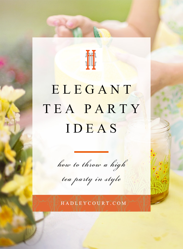 Elegant Tea Party Ideas Hadley Court Interior Design Blog