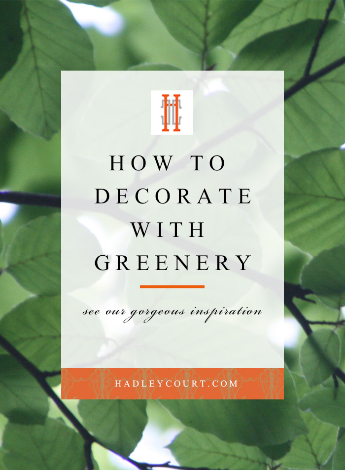 How to decorate with greenery, the Pantone 2017 color of the year. Click to read our tips on incorporating this trend into your home decor!