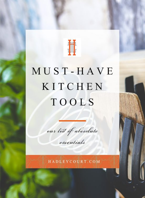 must-have kitchen tools, these 5 essentials are key for any home cook and amateur chef alike! Click to see all of the must-haves in the post