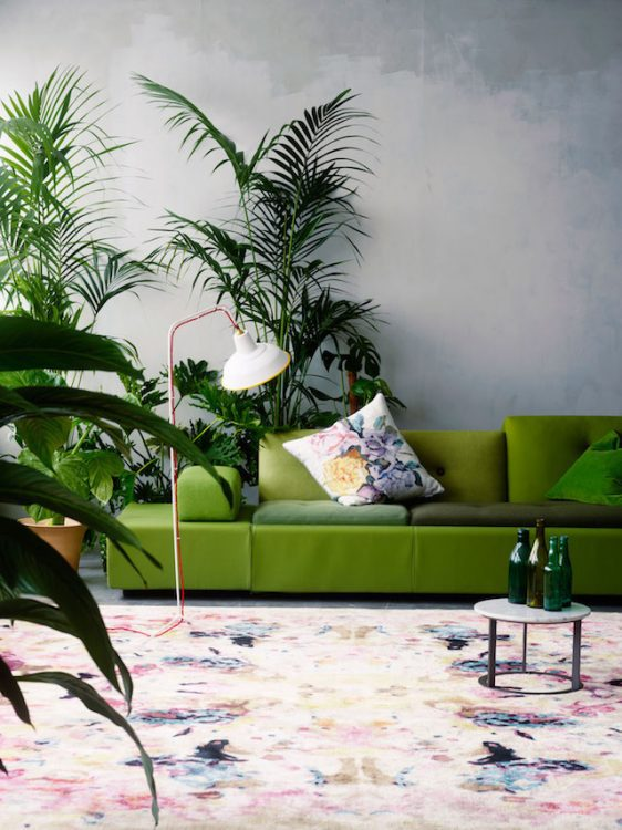 Decorating with greenery, the Pantone 2017 color of the year. Click to read our design tips for incorporating this trend into your home decor!