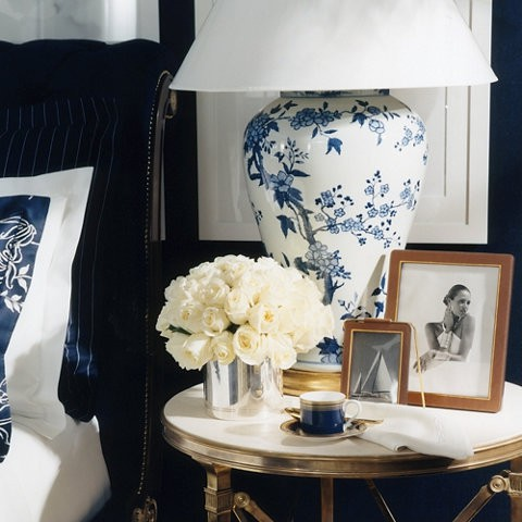 Photo frames on a side table