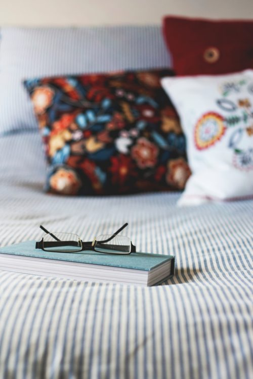 A book on the bed