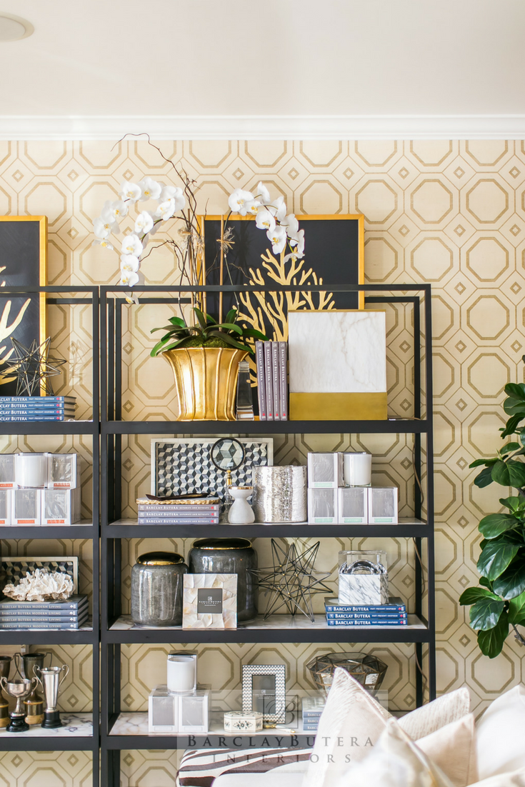 Barclay Butera Interiors Bookcase Styling In His Newport Beach, California  Showroom