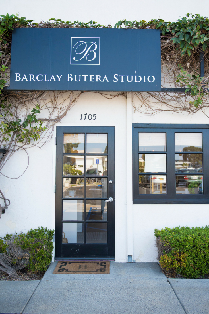 Barclay Butera Interiors Studio Entrance in Newport Beach, California