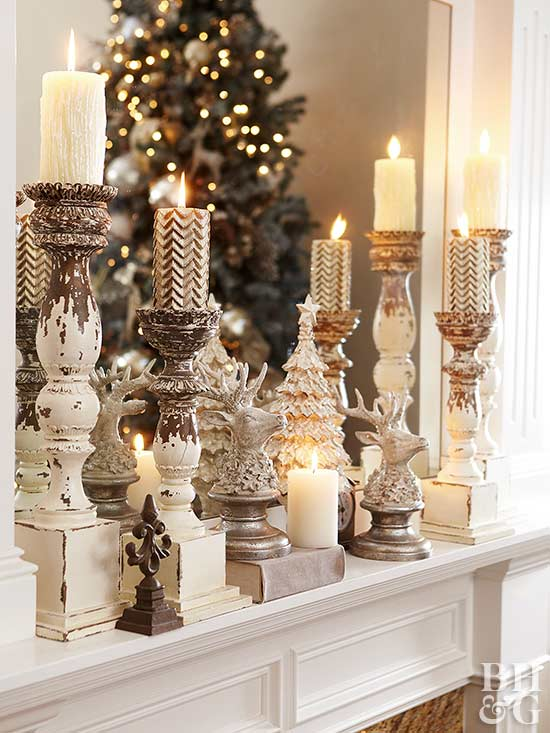 holiday mantel decor we adore decorate with candles