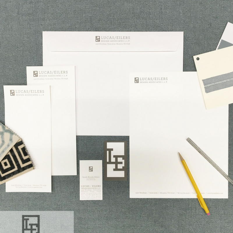 Custom stationery from the offices of Houston based Lucas Eilers Design Associates