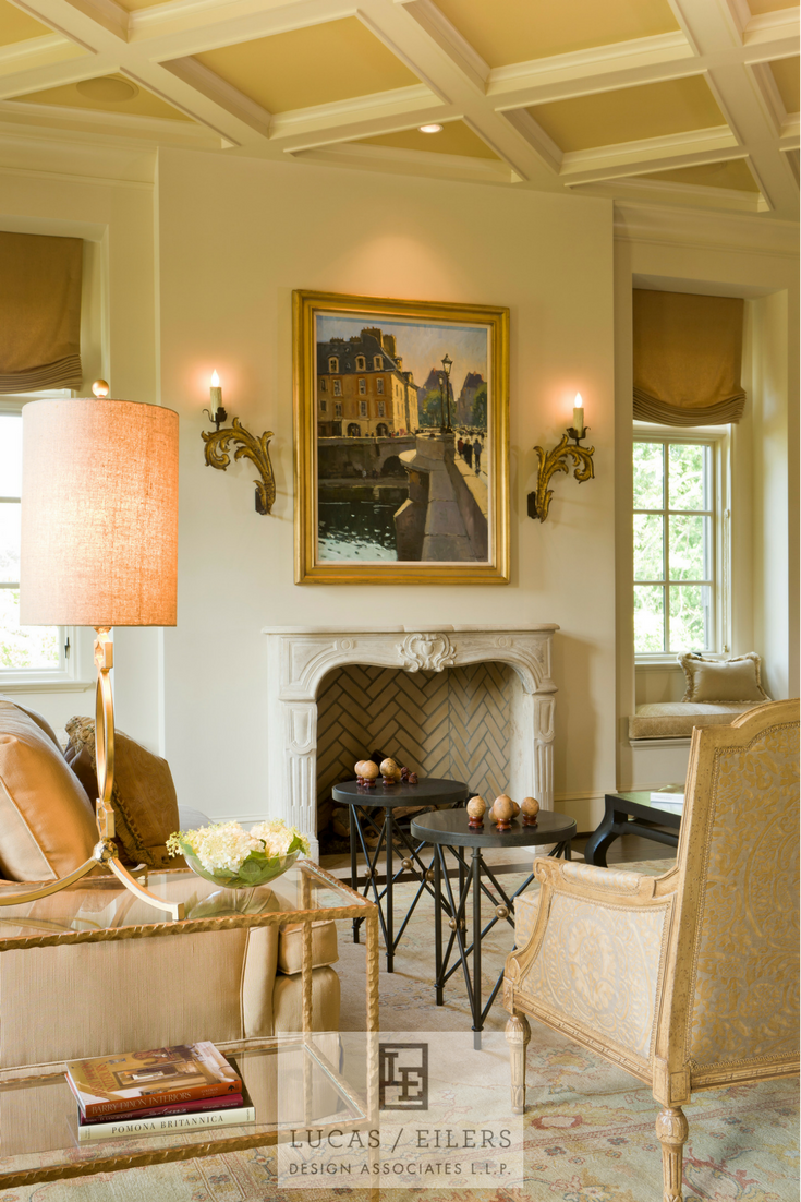 An inviting living room, designed by Houston based Lucas Eilers Design Associates.