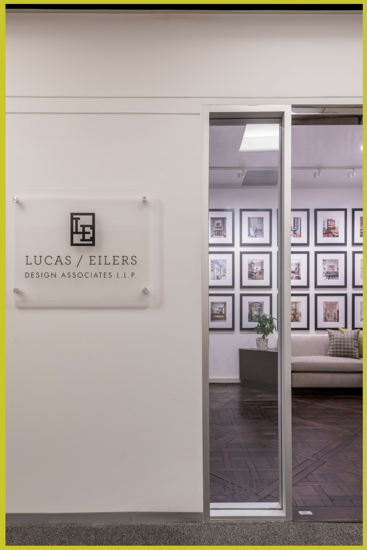 The front entrance to the inspiring workspaces of Houston based, Lucas Eilers Design Associates