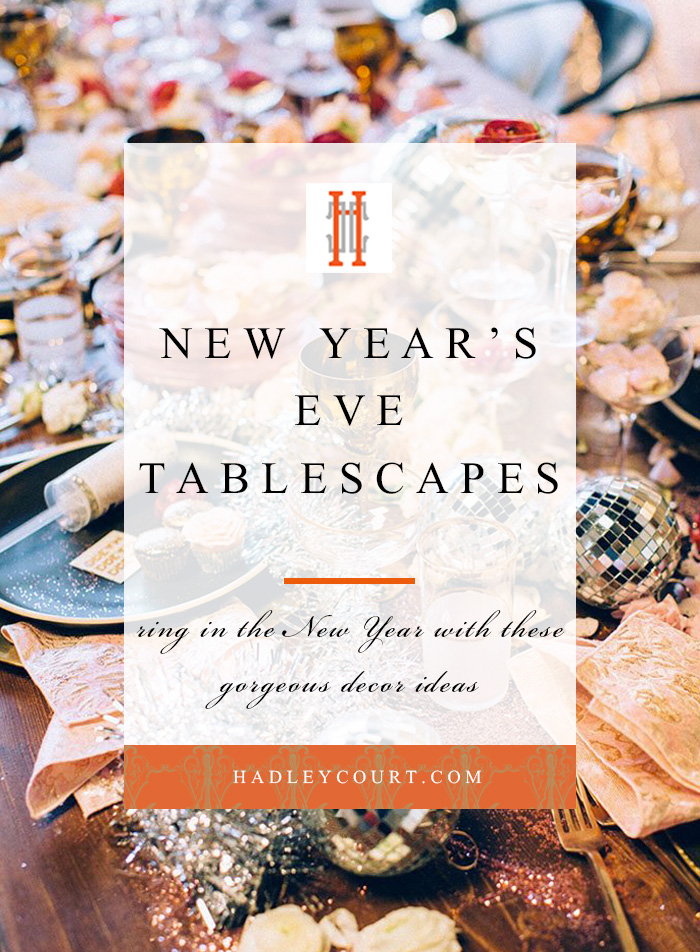 New Year's Eve tablescapes