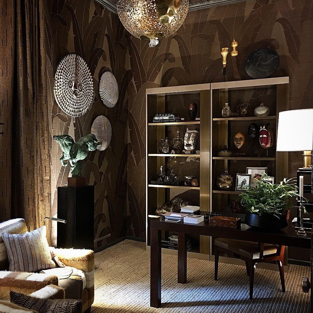 Patrik Lönn - incorporates deep tone Dedar fabrics (wall covering, chairs, drapery)