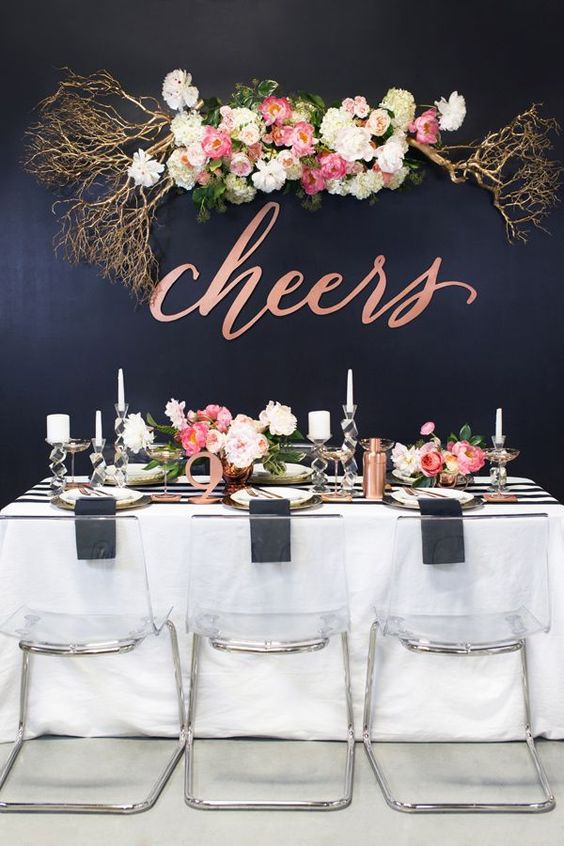 new years eve tablescape flowers