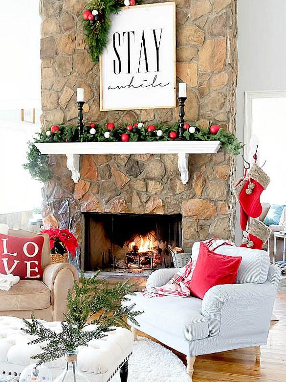 holiday mantel decor we adore black and white artwork