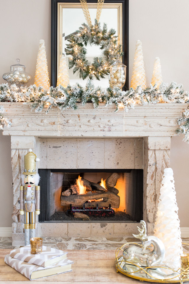 Holiday Mantel Decor We Adore Gold And Silver