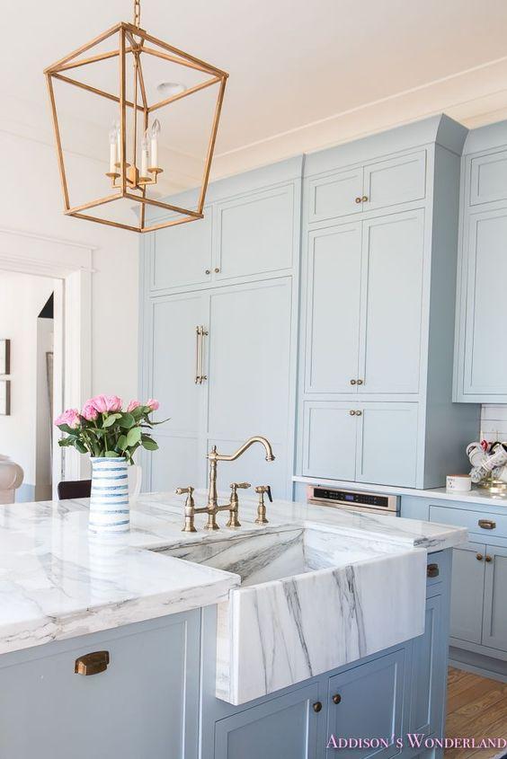 powder blue kitchen