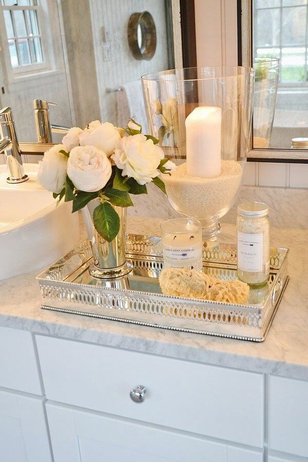 bathroom organization ideas countertop tray