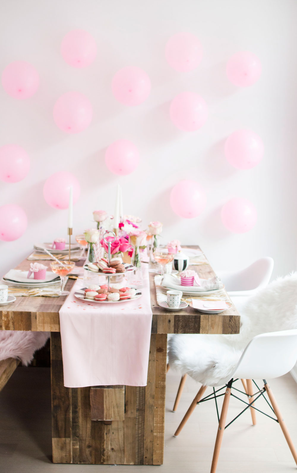 galentines day party idea pretty in pink