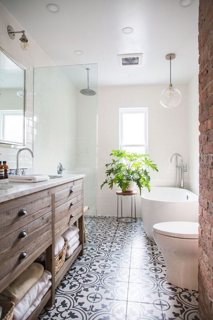 becki owens patterned tile bathroom floor