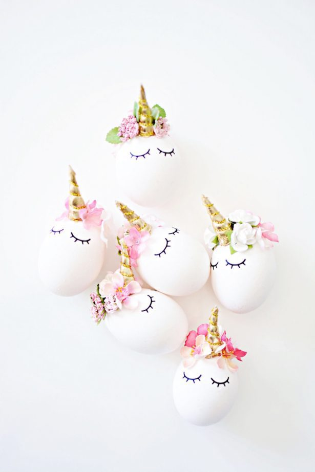 easter egg decorating ideas unicorns