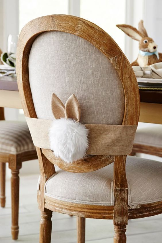 easter home decor ideas bunny chair