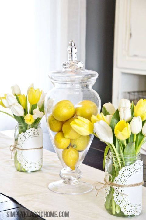 easter home decor ideas lemons