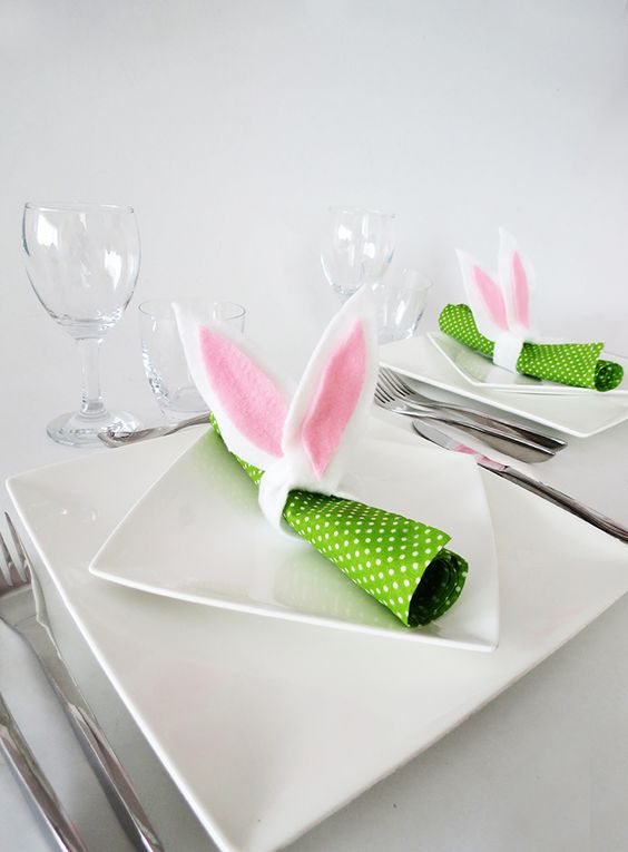 easter home decor ideas easter napkin rings