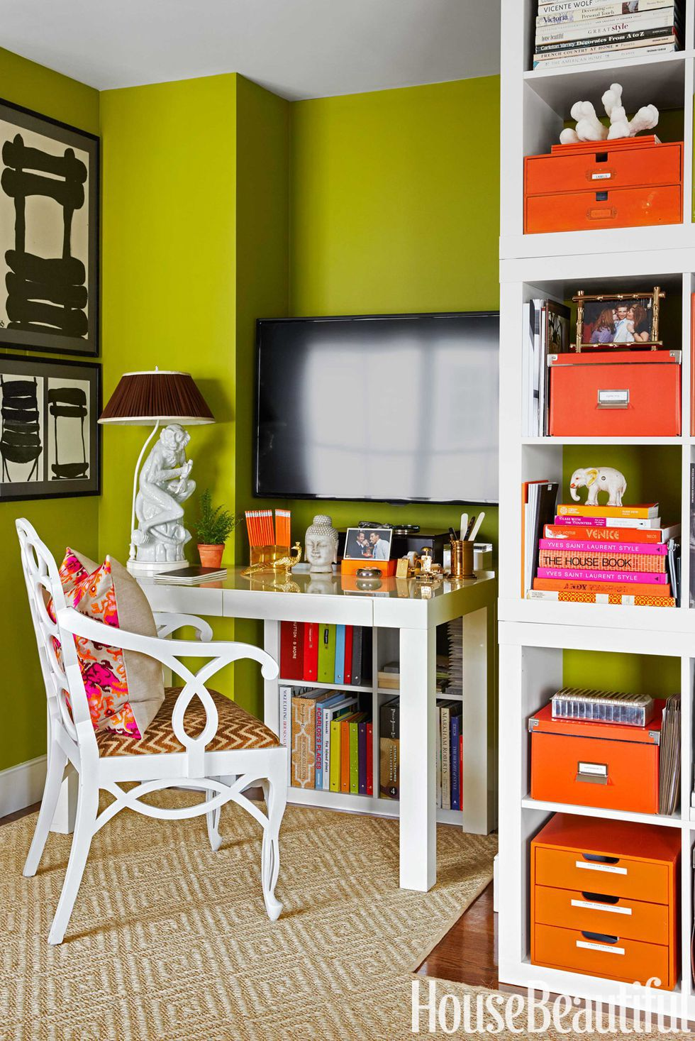Bright and Colorful Workplace Organization
