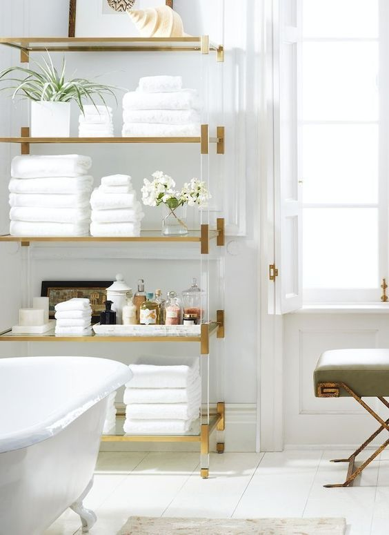 gold bathroom fixtures we love