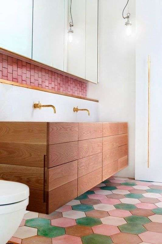 5 ways to use colored subway tiles