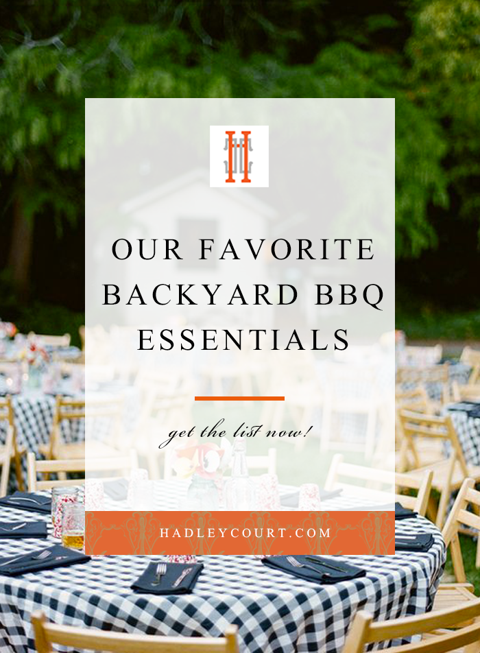 backyard bbq essentials