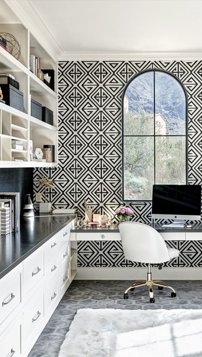 bold office design ideas geometric