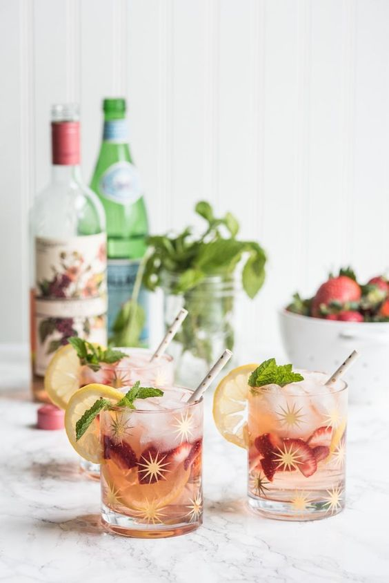 rose spritzer summer cocktail recipes we love