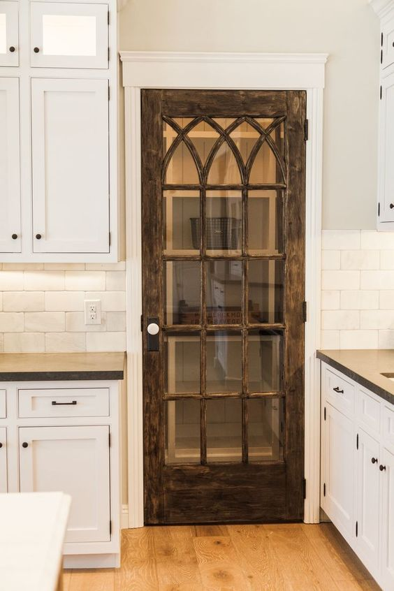 rustic kitchen pantry door