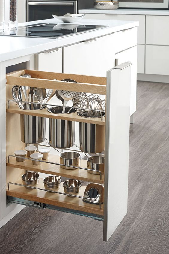 clever cabinet storage ideas: hideaway space racks