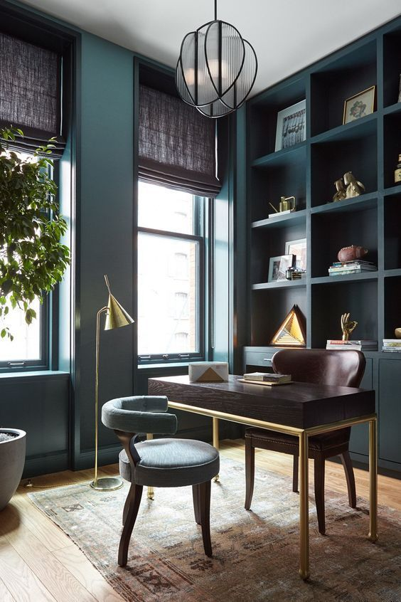 A Dark & Moody Bold Office