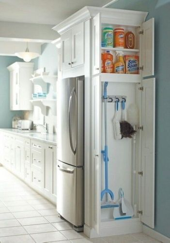 clever cabinet storage ideas: cleaning supply storage