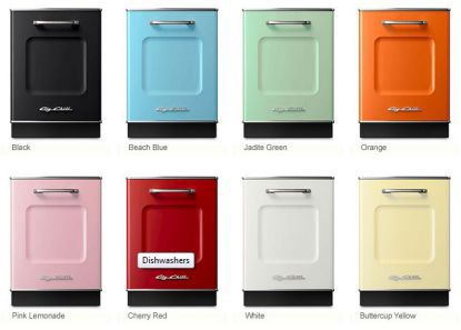 big chill colored dishwasher and kitchen appliances