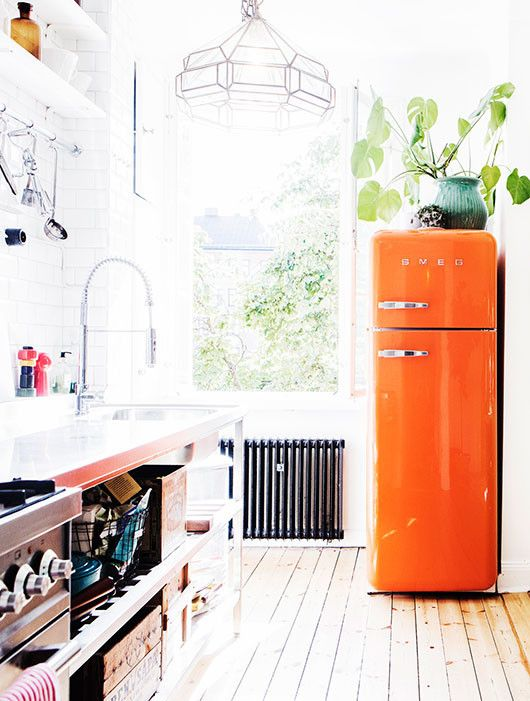 Colorful Kitchen Appliances Smeg Retro Fridge