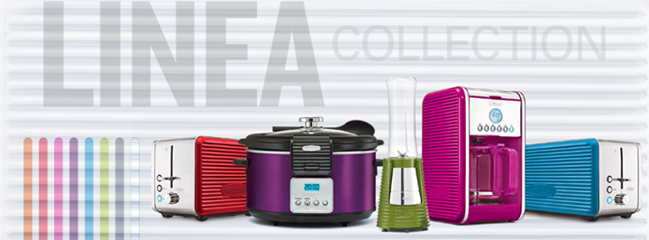 Bella linea collection colorful kitchen appliances