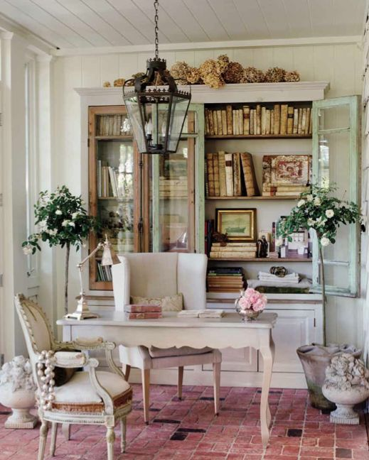 chic and feminine home offices french inspired office