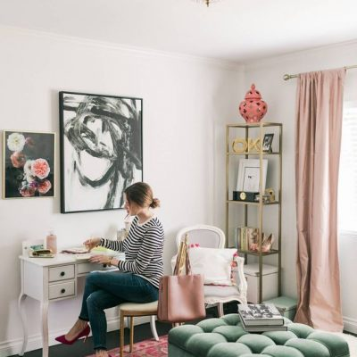 5 Chic and Feminine Home Offices We're Smitten With