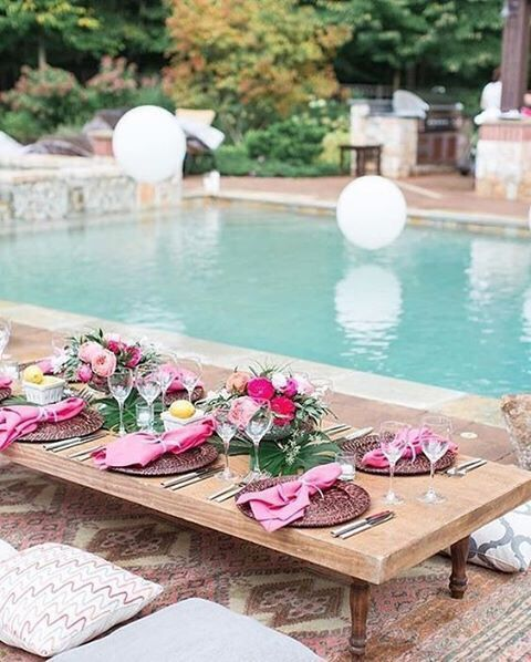 summer brunch ideas poolside party