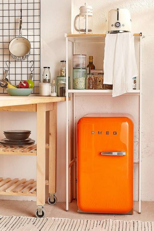 how to declutter: miniature fridge