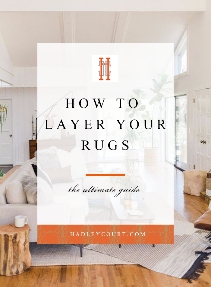 how to layer your rugs