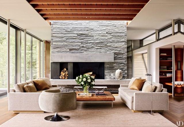 modern living room in California