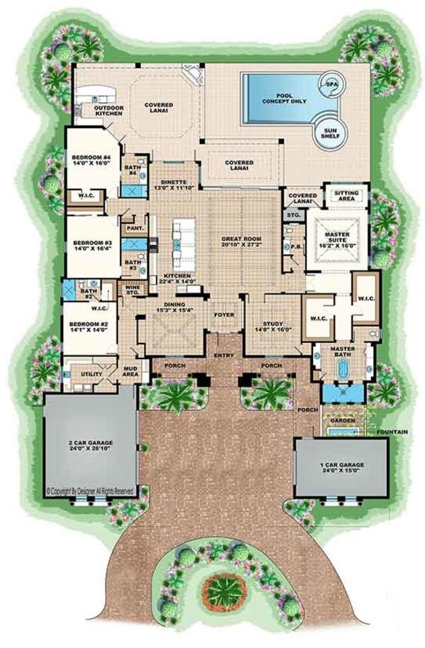 Mediterranean floor plan