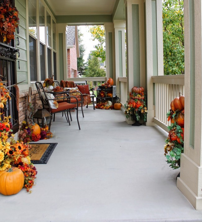 How To Decorate A Front Porch For Fall Hadley Court