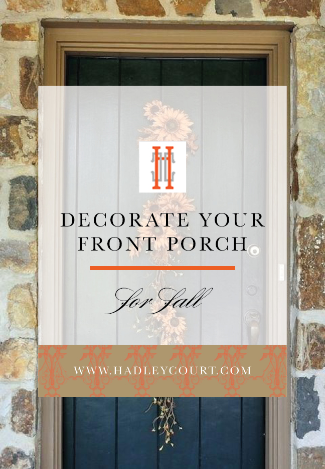 Decorate Your Front Porch for Fall