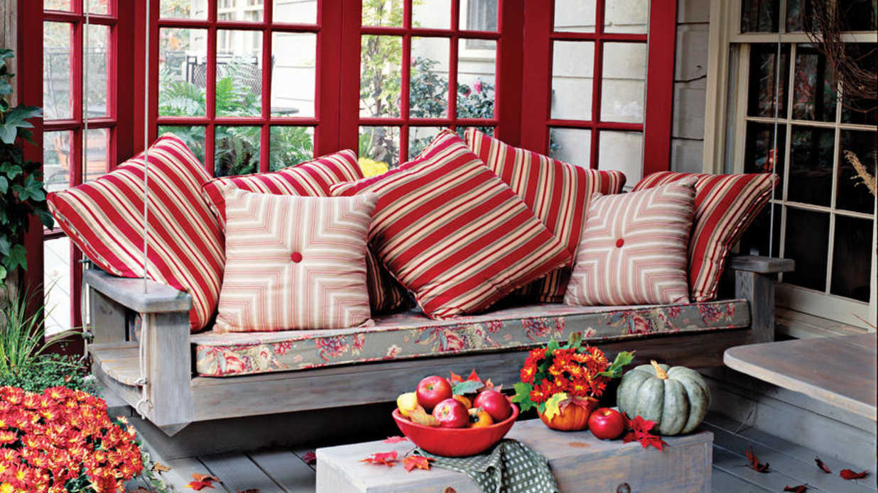 outdoor furniture in fall colors